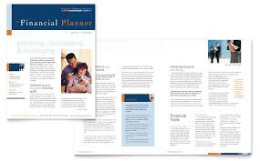 financial planning u0026 consulting newsletter template word u0026 publisher