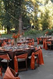 chagne chair sashes 36 awesome outdoor décor fall wedding ideas weddingomania fall