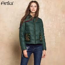 light bomber jacket womens artka women s down jacket 2018 winter bomber jacket women 90 duck