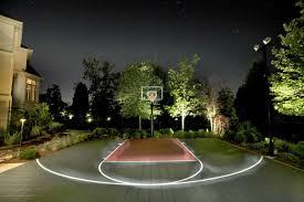 Backyard Basketball Half Court Outdoor Basketball Court Landscape Traditional With Backyard