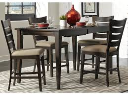 liberty furniture pebble creek casual ladder back counter chair shown in weathered tobacco finish over rubberwood solids and acacia veneers