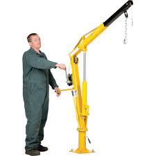 vestil hydraulic pickup truck jib crane with hand winch u2014 extended