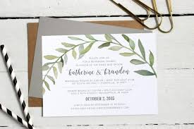 custom invites watercolor botanical wreath rehearsal dinner invitations formal