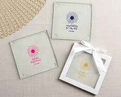 coaster favors personalized sunflower glass coaster set of 12 my wedding favors