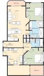 2 Bedroom Condo Floor Plan Ocean Walk Resort Floorplans