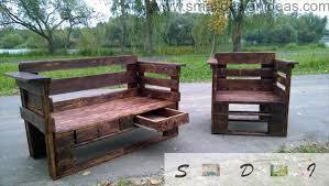 Wooden Pallet Bench Indoor Outdoor Universal Pallet Furniture