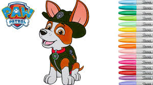 paw patrol coloring book tracker coluring pages superhero episode