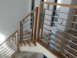 stainless steel banister rails used stainless steel stair railing invisibleinkradio home decor