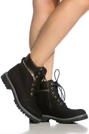 womens boots denver black faux leather lace up hiker ankle boots cicihot boots