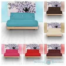 sofa matratze sofa futon 3 sitzer baumwolle matratze sofabett gästebett ebay
