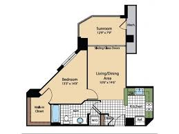 washington floor plan 1 bed 1 bath apartment in washington dc meridian at gallery place