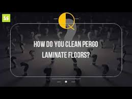 how do you clean pergo laminate floors