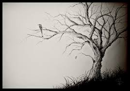 the last leaf on a dying tree by simonvelazquezart on deviantart