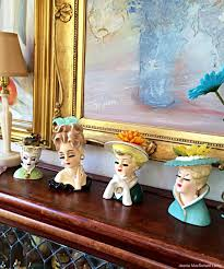 Vintage Lady Head Vases Vintage Spotlight Lady Head Vases U2013 Dusty Old Thing