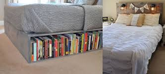 Beds With Bookshelves by Wood Platform Beds With Storage Drawers