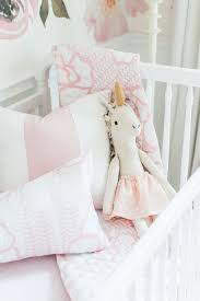 Blush Crib Bedding by In The Nursery With Monika Hibbs Project Nursery