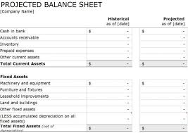 proforma balance sheet template for excel excel templates company