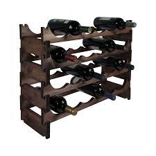 24 bottle pine modular wine rack 6x4