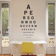 wallboss page wall stickers art eye test wall sticker
