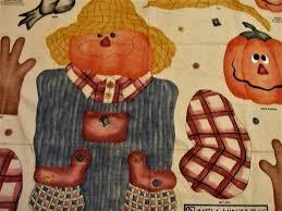 halloween panel fabric scarecrow fabric panel halloween fabric daisy kingdom mr