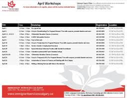 resume writing group coupon immigrant services calgary linkedin time to plan your activities for april take a look at our workshop calendar and sign up for some free activities https lnkd in g4ua3yy