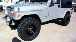 lj jeep truck 2006 kevlared jeep wrangler lj lifted with custom wheels and tires