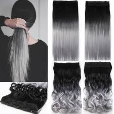 ladies hair pieces for gray hair one piece hair pad 24inch 60cm lady women hairpieces straight