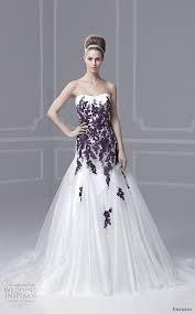 purple white wedding dress wedding dresses with purple accents 5849
