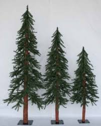 4ft christmas tree set of 3 alpine artificial downswept slim christmas