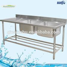 stainless steel commercial kitchen sink table with board australia