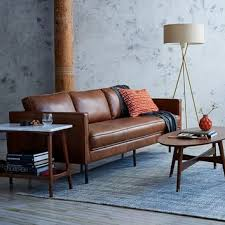 Vegan Leather Sofa Axel Leather Sofa From West Elm Furniture
