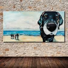 Great Dane Home Decor Compare Prices On Beach Paintings Online Shopping Buy Low Price