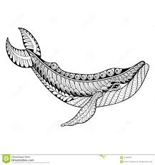zentangle vector whale for anti stress coloring pages orn