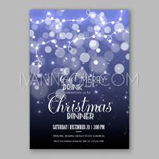 Happy New Year Invitation Christmas Glowing Lights Merry Christmas And Happy New Year Card