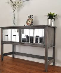 make your own buffet table diy mirrored console table for under 150 anika s diy life