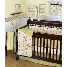 Neutral Nursery Bedding Sets Sumersault Pop Dot 10 Crib Set Green Orange