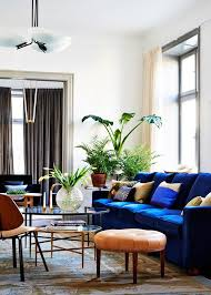 Blue Sofa In Living Room Living Room Design Couches Living Rooms Spaces Room Decorating