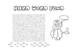 free printable word find colouring page