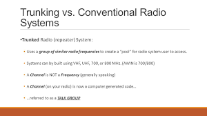 Radio Frequency In Computer Interface Conventional Vs Trunking Radio Systems Ppt Video Online Download