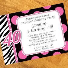 free printable 40th birthday party invitations templates drevio