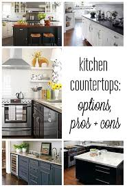 Countertop Options Kitchen by 67 Best Kitchen Countertop Images On Pinterest Kitchen Ideas