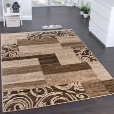 teppich für wohnzimmer designerteppich muster meliert beige design teppiche