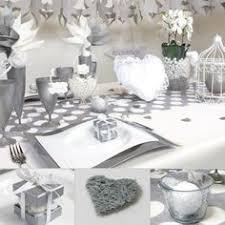 mariage et blanc décoration de mariage gris perlé anthracite argenté blanc la