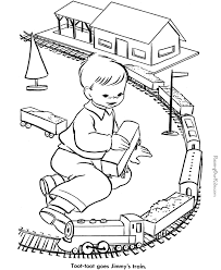 Kids Train Pictures Many Interesting Cliparts Rail Color Page