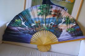 Asian Wall Fans by Junque In The Trunk Danielle Large Decorative Hand Painted Asian Fan