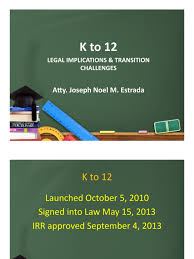 legal basis of k12 academic degree curriculum