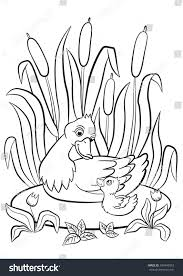 coloring pages kind duck little cute stock vector 394949953