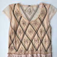 57 off free people tops hp free people blush pink beaded