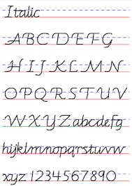 common handwriting styles