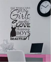 girls wanna have fun vinyl wall lettering vinyl wall decals zoom